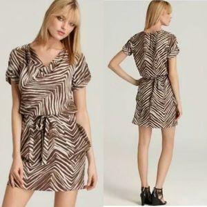 BCBG Maxazria Ayshea Dress Animal Print Mini S